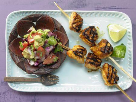 Tamarinden-Hähnchen-Spieße