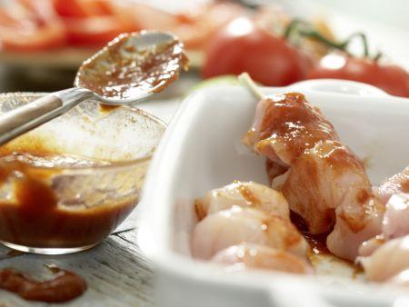 Tamarinden-Hähnchen-Spieße: Zubereitungsschritt 4