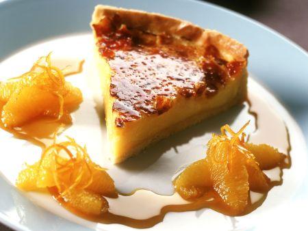 "Rezept: Tarte ""Crema Catalana"" mit Orangensoße"