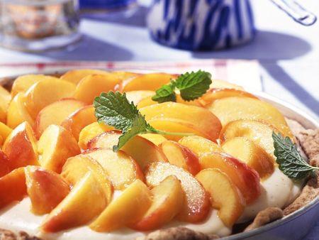 Tarte mit Mascarponecreme und Pfirsich