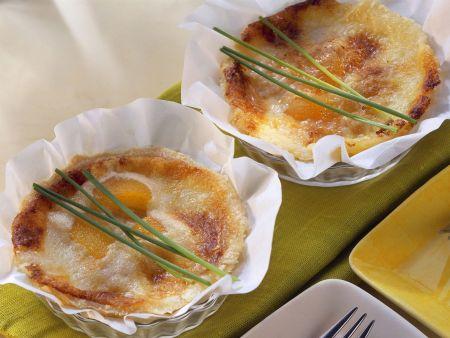Tartes mit Aprikose und Gorgonzola