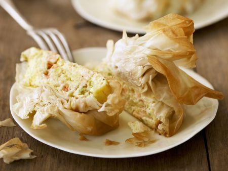 Teigbeutel mit würziger Kartoffelfüllung