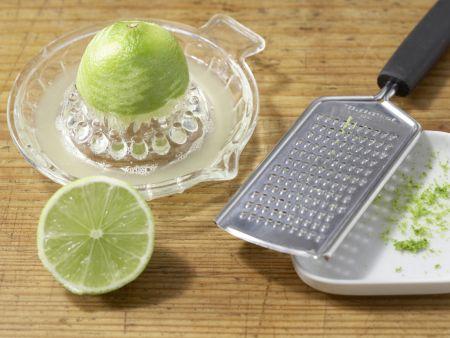 Teigschnecken mit Pfirsichen: Zubereitungsschritt 2