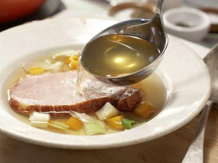 Tellersülze mit Kassler: Zubereitungsschritt 7
