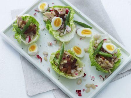 Thunfisch-Bohnen-Salat mit Ei