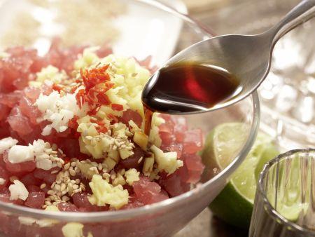 Thunfisch-Häppchen: Zubereitungsschritt 3