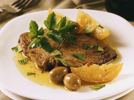 Rezept: Thunfisch mit Zitronensauce