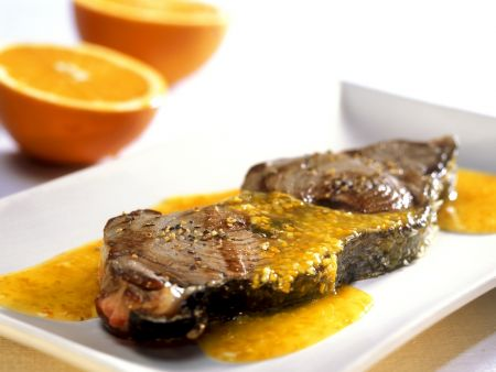 Rezept: Thunfisch mit Zitrussoße