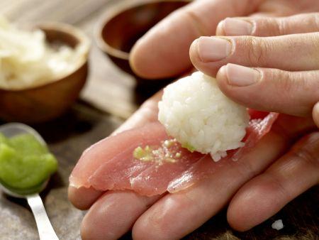 Thunfisch-Sushi: Zubereitungsschritt 4