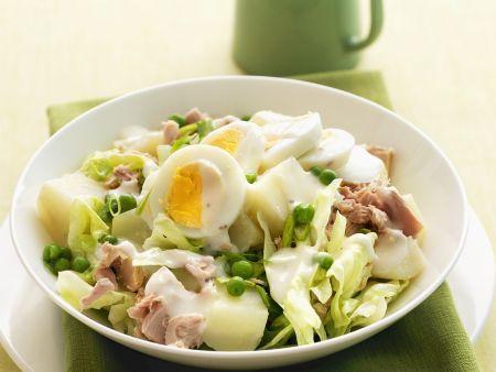 Rezept: Thunfischsalat mit Ei