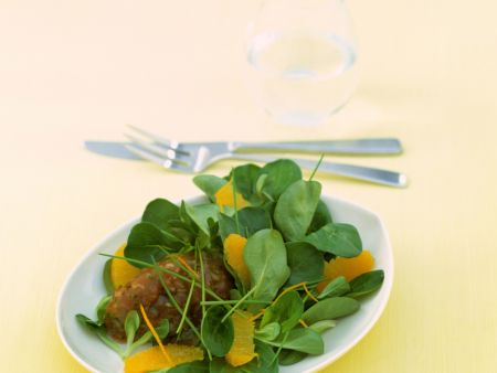 Thunfischtatar an Salat