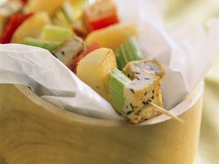 Tofu-Gemüse-Spießchen