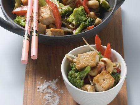 Rezept: Tofu mit Brokkoli aus dem Wok