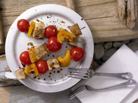 Tofu-Paprika-Spieße
