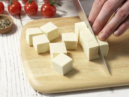 Tofu-Paprika-Spieße: Zubereitungsschritt 1