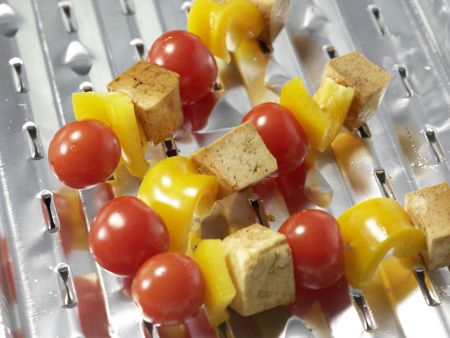 Tofu-Paprika-Spieße: Zubereitungsschritt 6