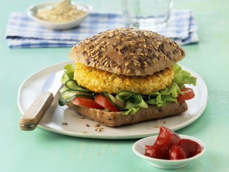 Tofu-Polenta-Burger