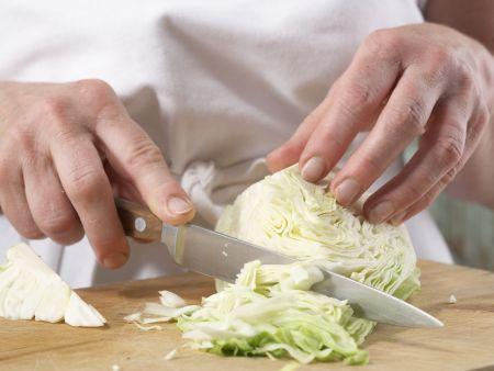 Tofuklößchen mit Kapernsauce: Zubereitungsschritt 4
