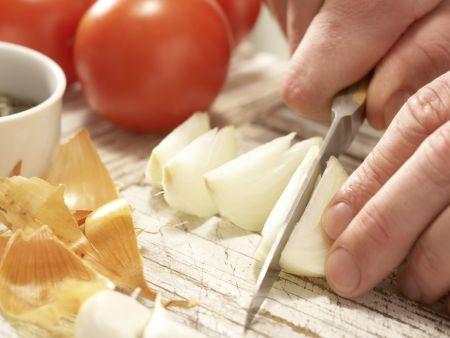 Tofuschnitten mit Kürbiskernen: Zubereitungsschritt 1