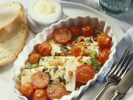 Tomaten-Feta-Auflauf