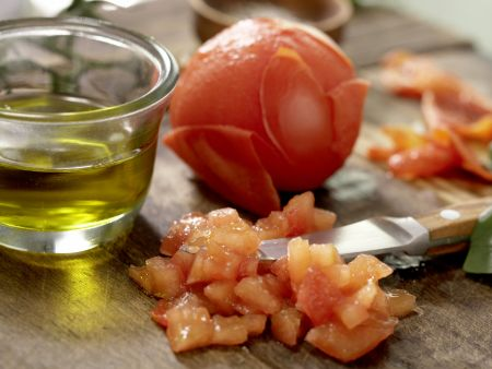 Tomaten-Filo-Tartelettes: Zubereitungsschritt 2