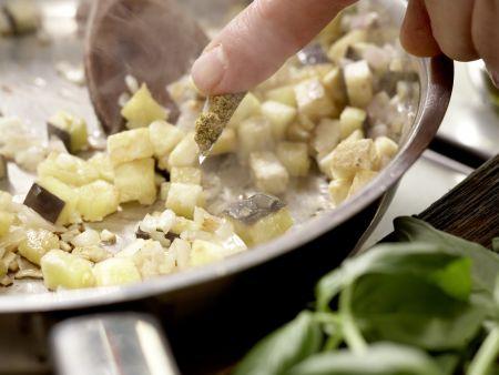 Tomaten-Filo-Tartelettes: Zubereitungsschritt 4