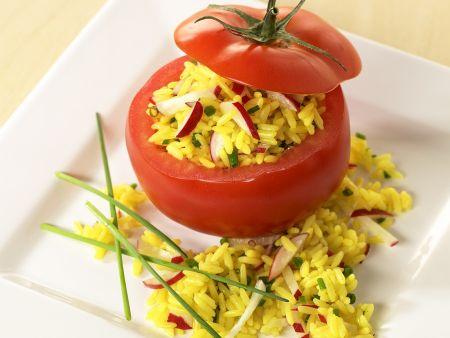 Tomaten mit Reisfüllung