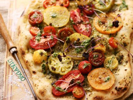Tomaten-Pizza
