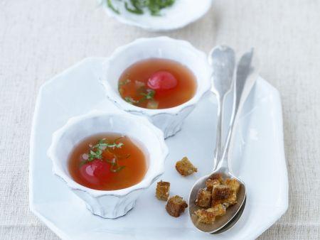 Tomatenbrühe mit Gemüse