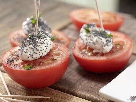 Tomatenhappen mit Käsenocken: Zubereitungsschritt 4