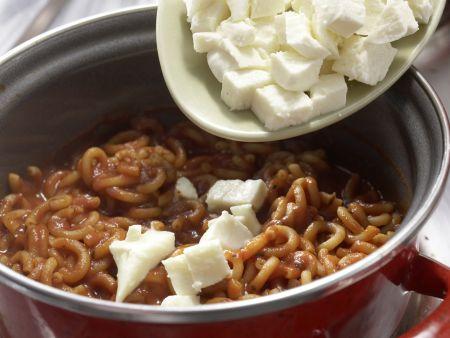 Tomatennudeln mit Zucchini: Zubereitungsschritt 4