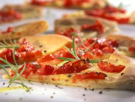 Rezept: Tomatenpizzabrot