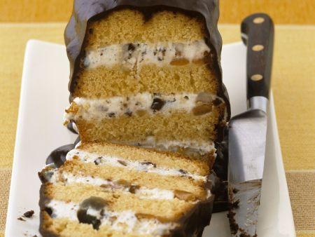 Torta di cacio mit Schokolade glasiert (Cassata)