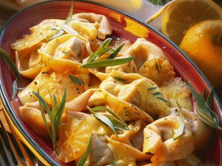Tortellini in Zitronensoße mit Estragon