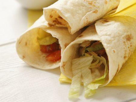 Tortillas mit Thunfischsalat-Füllung