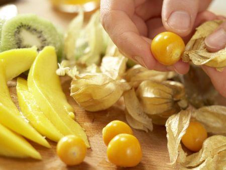 Tropischer Obstkuchen: Zubereitungsschritt 6