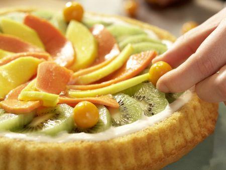 Tropischer Obstkuchen: Zubereitungsschritt 8