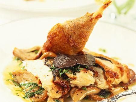 Trüffel-Hähnchen mit Austernpilzen