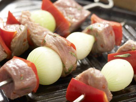 Türkische Fleischspieße: Zubereitungsschritt 6