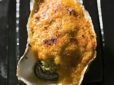 Überbackene Auster