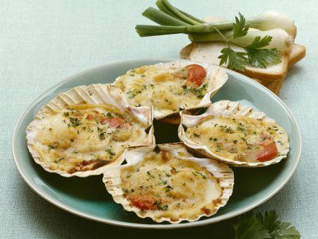 Rezept: Überbackene Muscheln mit Tabasco