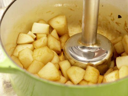 Vanillecreme mit Birnenpüree: Zubereitungsschritt 4