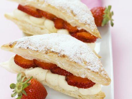 Vanillecreme-Erdbeer-Schnitten