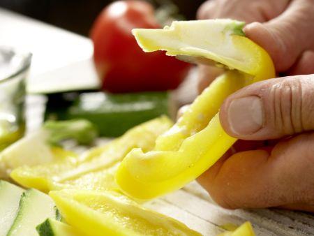 Vegetarische Club-Sandwiches: Zubereitungsschritt 1