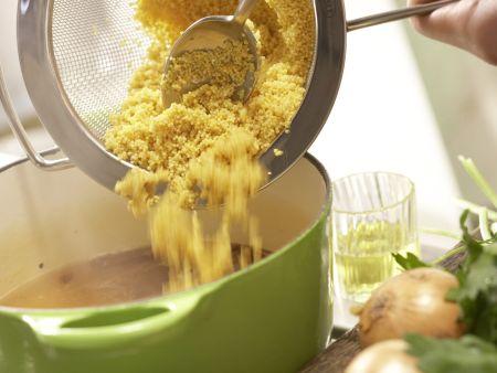Vegetarische Kohlrouladen: Zubereitungsschritt 2