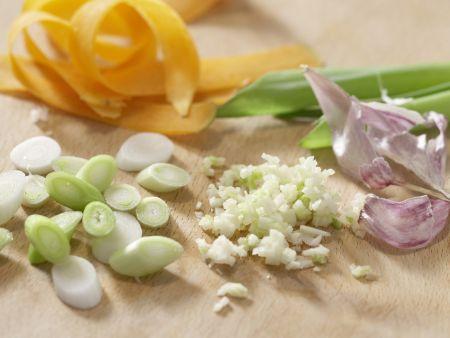 Vegetarische Nudelpfanne: Zubereitungsschritt 4