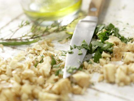 Vegetarische Wirsingrouladen: Zubereitungsschritt 4