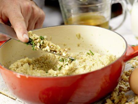Vegetarische Wirsingrouladen: Zubereitungsschritt 5