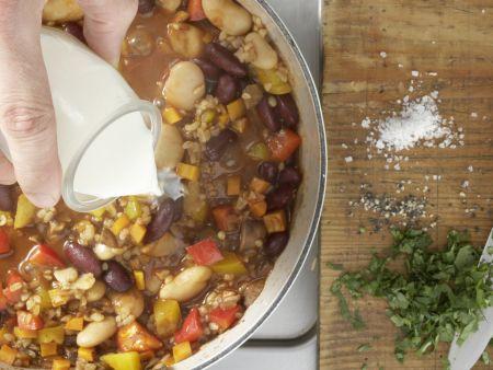 Vegetarisches Chili: Zubereitungsschritt 11