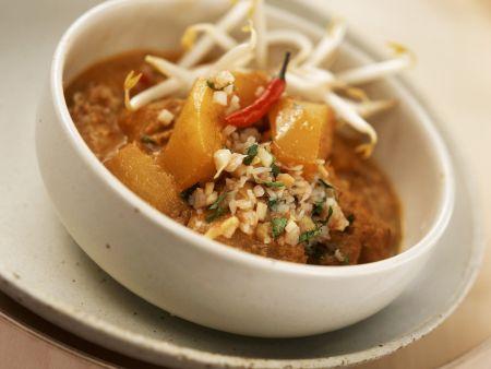 Vegetarisches Curry mit Sprossen